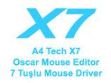 A4 Tech X7 Oscar Mouse Editor 7 Tuşlu Mouse Driver (Resimli Anlatım) İndir
